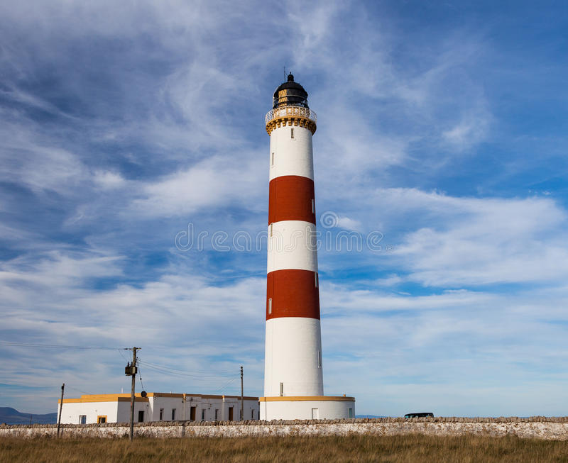 Tarbat Ness Lighthouse royaltyfria bilder