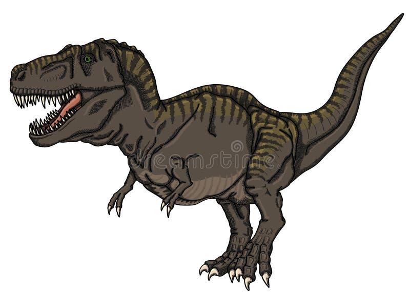 Tarbosaurus royalty-vrije illustratie