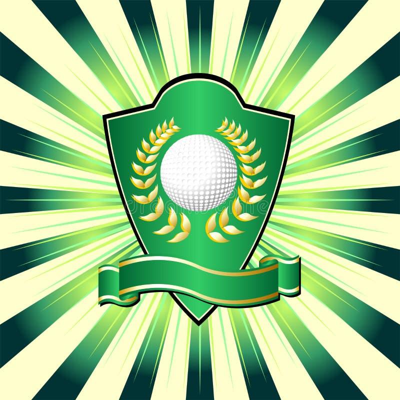 tarcza golfowa ilustracja wektor