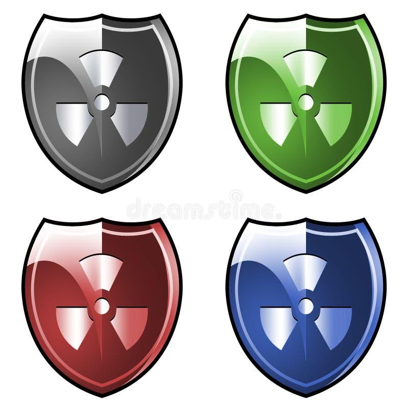 tarcza radioaktywnego symbol ilustracji