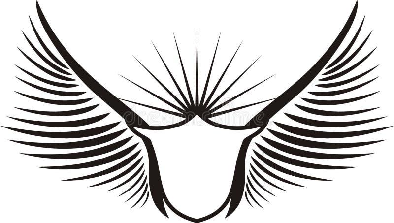 tarcza skrzydlaty stwór ilustracja wektor