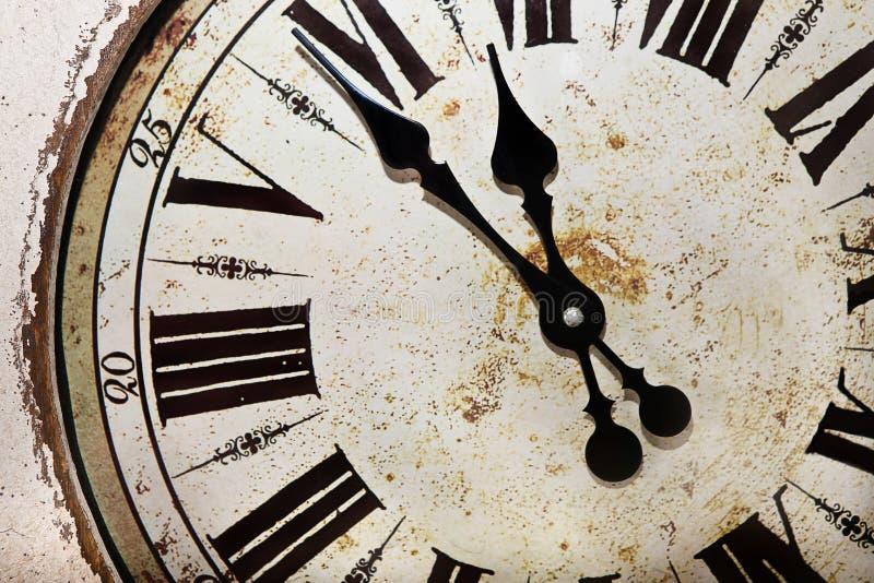 Tarcza stary starożytniczy zegarek obraz stock