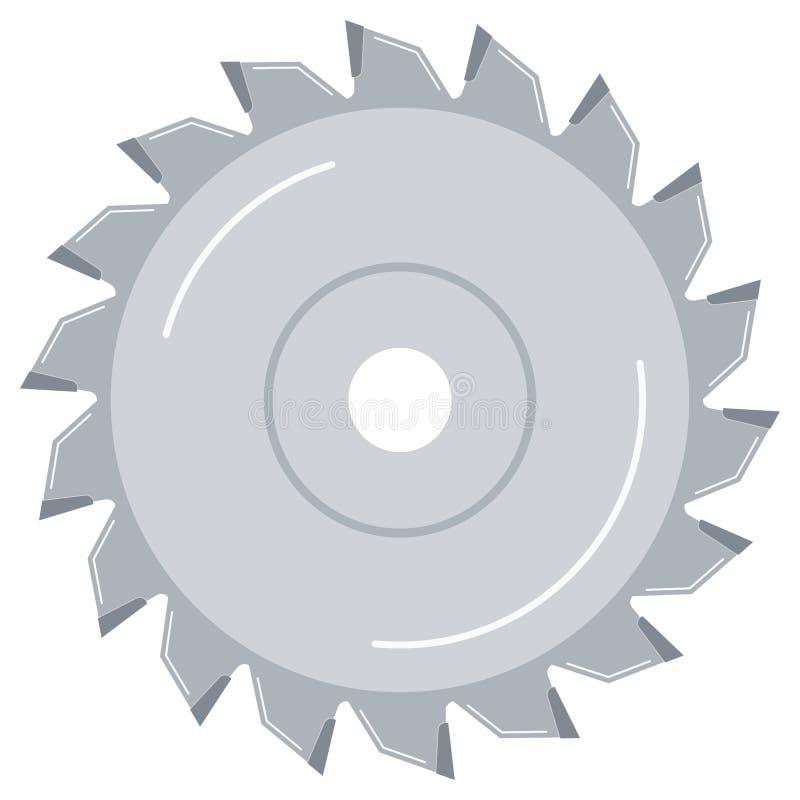 Tarcza tarczowa tarczowa do drewna, metalowa płaska ikona konstrukcyjna, izolowana na białym tle ilustracja wektor