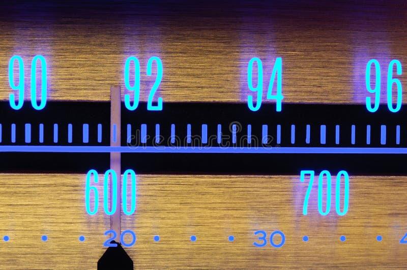 tarczy radio obrazy stock