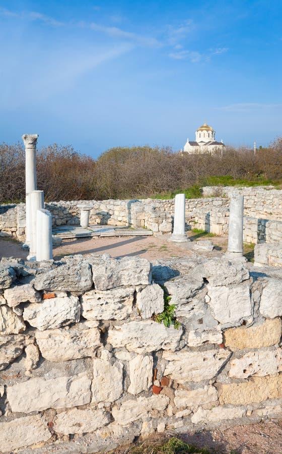 Tarde Chersonesos (ciudad antigua) fotos de archivo