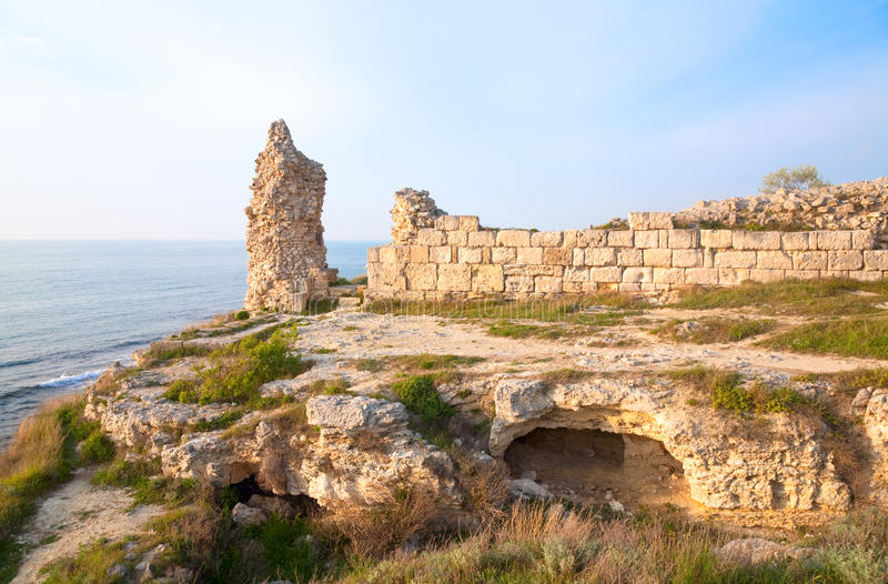 Tarde Chersonesos (ciudad antigua) foto de archivo libre de regalías