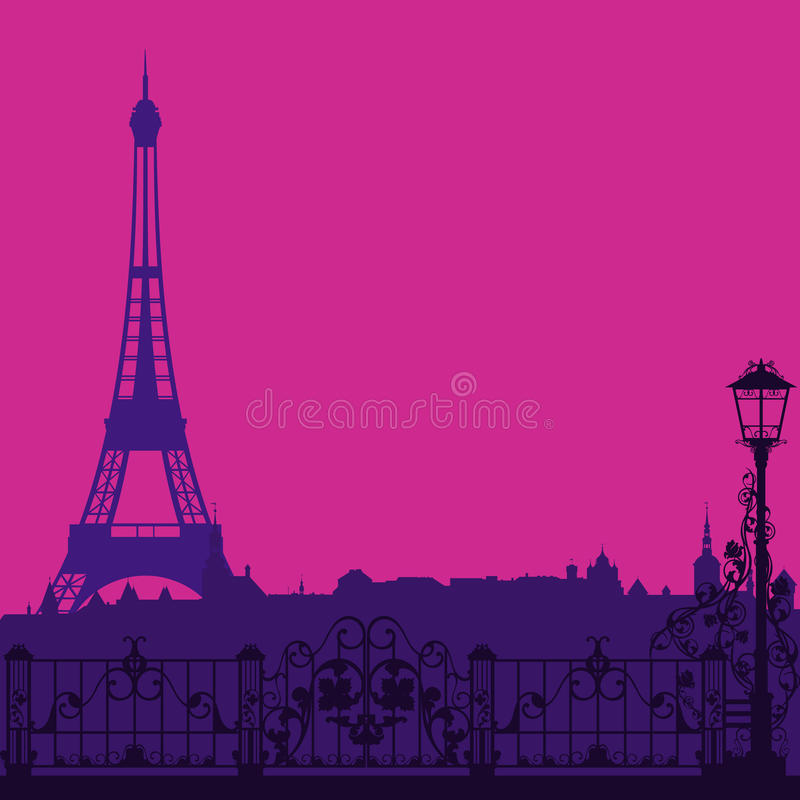 Tarde de París ilustración del vector
