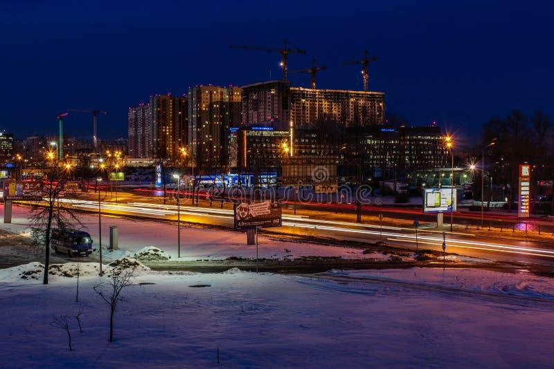 Tarde del invierno en St Petersburg en el envejecimiento fotos de archivo libres de regalías