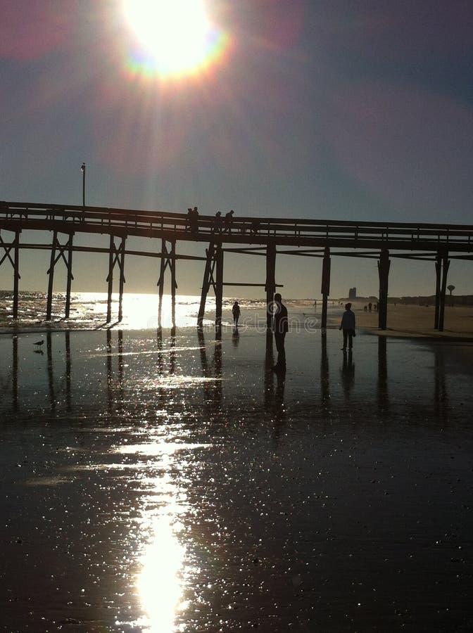 Tarde del otoño en la playa fotografía de archivo libre de regalías