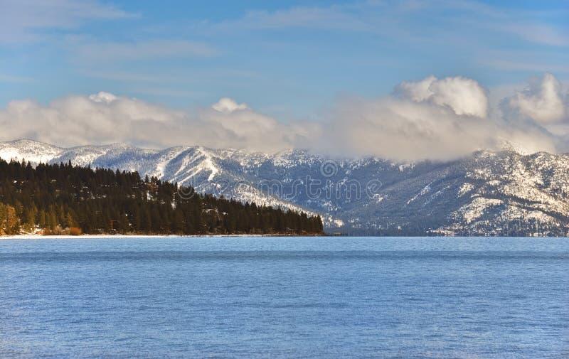 Tarde do inverno de Tahoe fotografia de stock