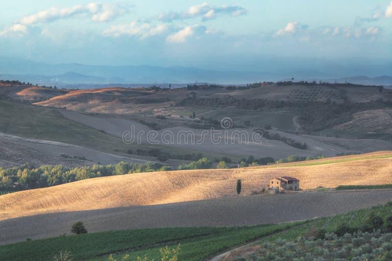 Tarde en Toscana imagen de archivo libre de regalías