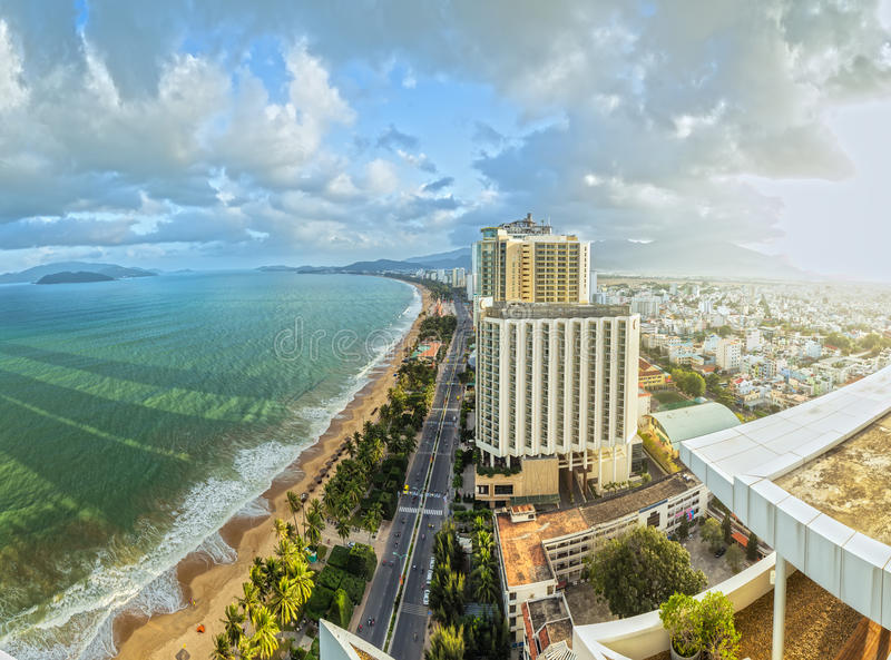 Tarde ensolarada em Nha Trang foto de stock royalty free