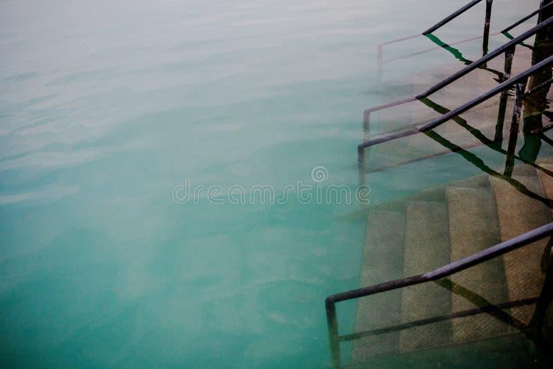 Tarde no lago fotografia de stock