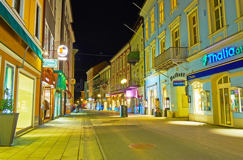 Tarde tranquila en mún Ischl, Austria fotos de archivo