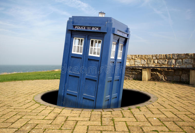 Download Tardis Emerges From Black Hole Stock Photography - Image: 35610262