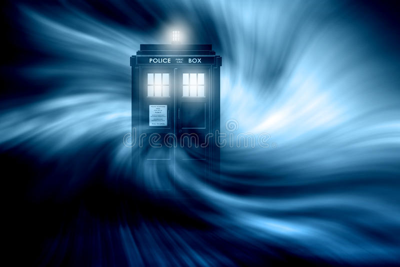 Tardis fantasibakgrund royaltyfri illustrationer