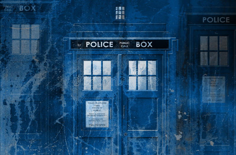 Tardis grungebakgrund vektor illustrationer