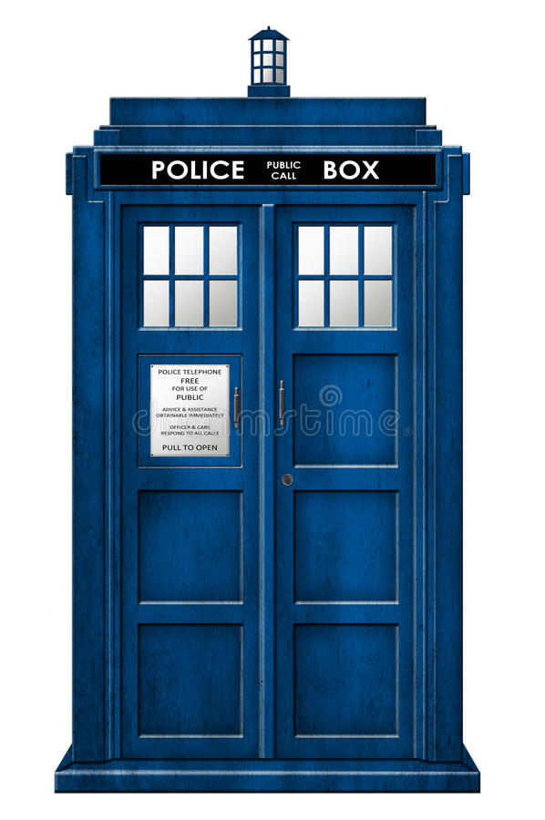 Tardis-Illustration lokalisiert stock abbildung