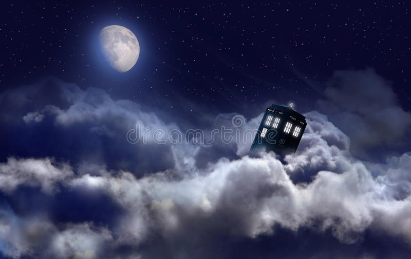 Tardis pendant la nuit illustration stock