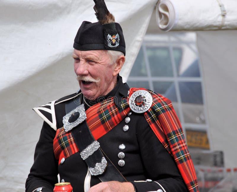 Tarditional Scottish Nairn Highlanf an den Spielen lizenzfreie stockfotografie
