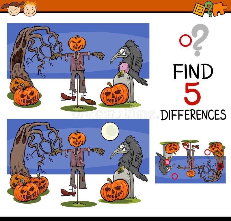 Download Tarefa Das Diferenças De Dia Das Bruxas Ilustração do Vetor - Ilustração de ponto, achado: 65576497