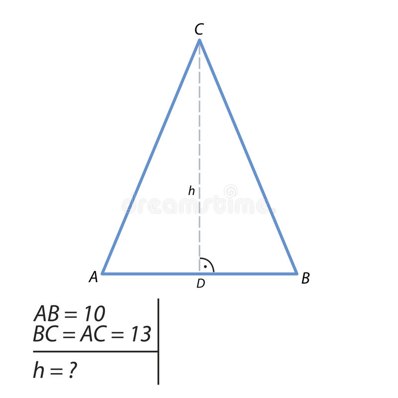A tarefa de encontrar a hipotenusa e o segundo pé ilustração do vetor