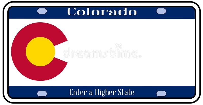 Targa di immatricolazione dello stato di Colorado illustrazione vettoriale