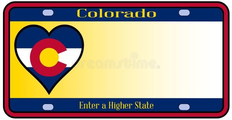 Targa di immatricolazione dello stato di Colorado illustrazione di stock