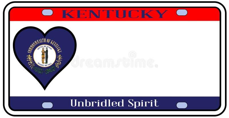 Targa di immatricolazione dello stato del Kentucky illustrazione vettoriale