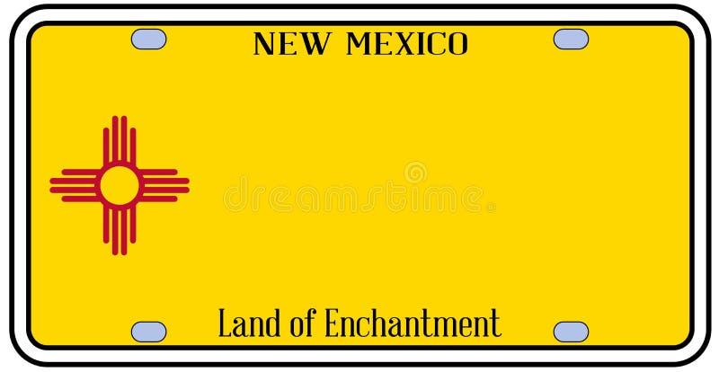 Targa di immatricolazione dello stato del New Mexico illustrazione di stock