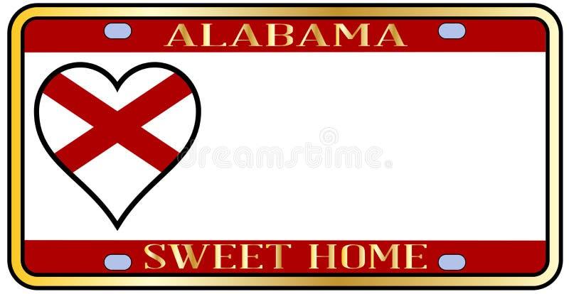 Targa di immatricolazione dello stato dell'Alabama royalty illustrazione gratis