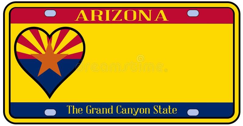 Targa di immatricolazione dello stato dell'Arizona royalty illustrazione gratis