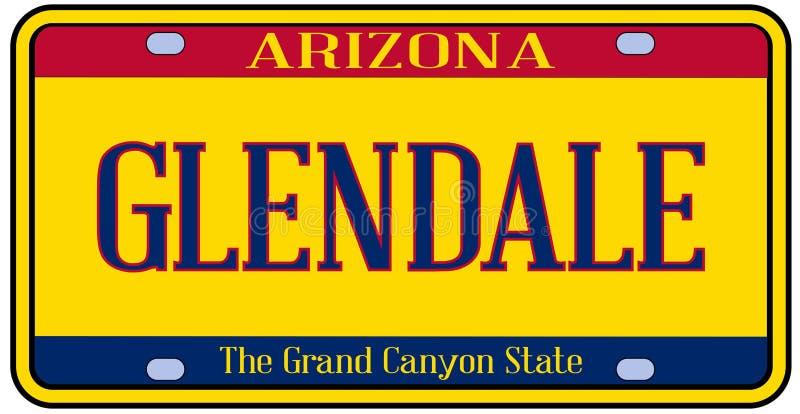 Targa di immatricolazione dello stato dell'Arizona Glendale illustrazione vettoriale