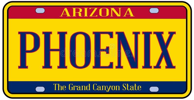 Targa di immatricolazione dello stato dell'Arizona Phoenix royalty illustrazione gratis