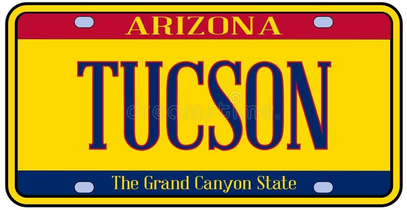 Targa di immatricolazione dello stato dell'Arizona Tucson royalty illustrazione gratis