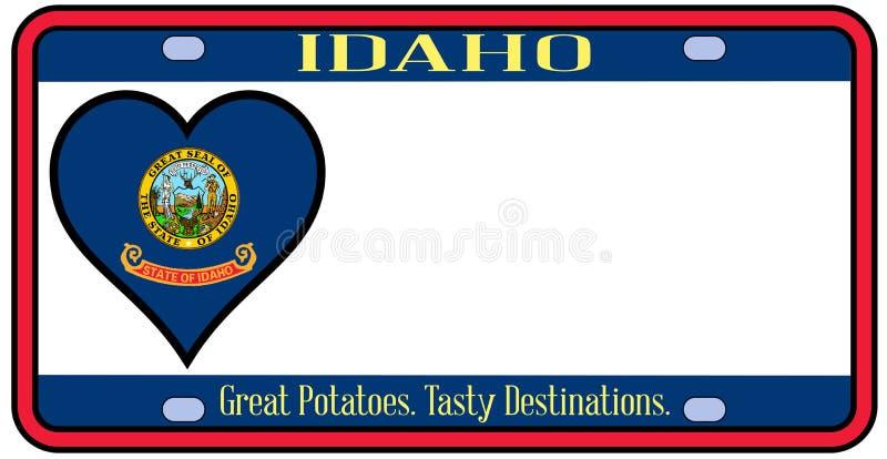 Targa di immatricolazione dello stato dell'Idaho royalty illustrazione gratis