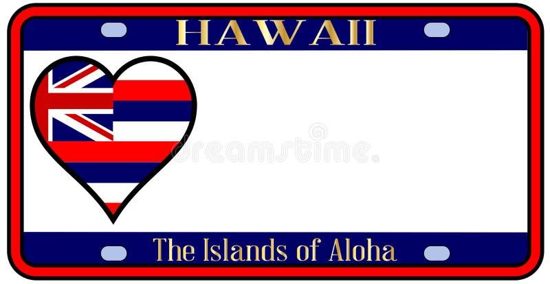 Targa di immatricolazione dello stato delle Hawai illustrazione di stock