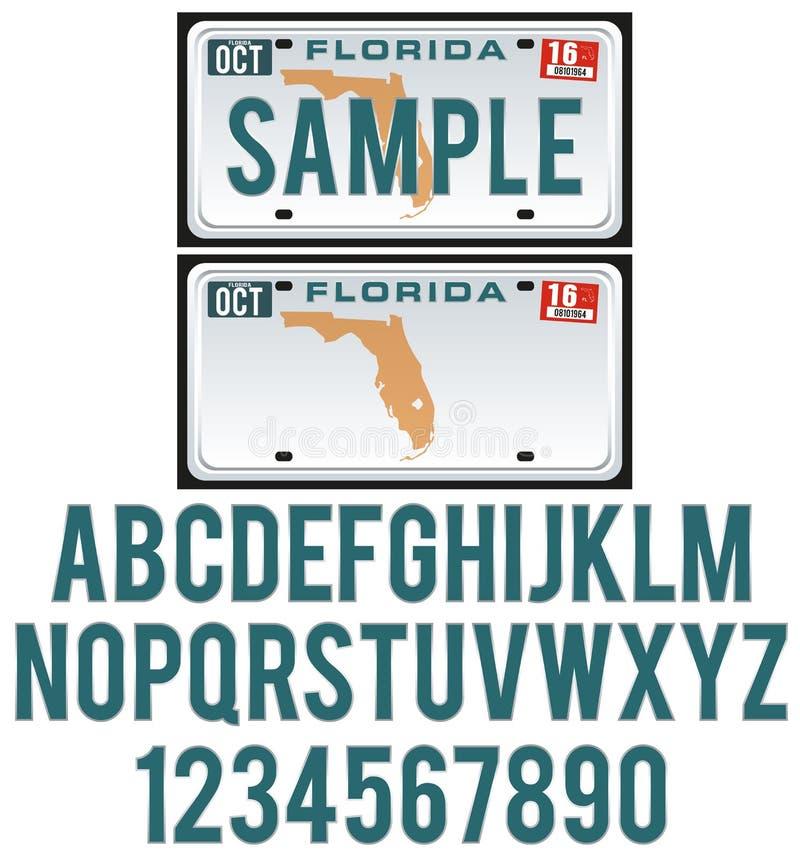 Targa di immatricolazione di Florida illustrazione vettoriale
