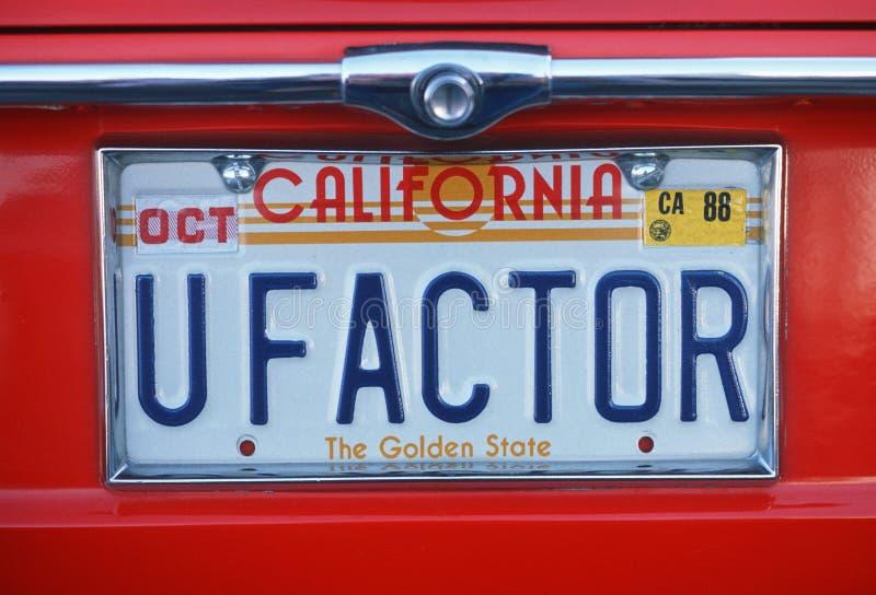 Targa di immatricolazione di vanità - California immagini stock