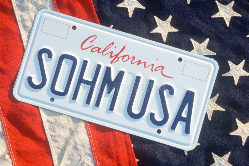 Targa di immatricolazione di vanità - California immagini stock libere da diritti