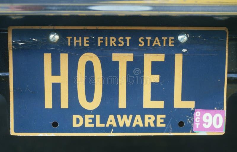 Targa di immatricolazione di vanità - Delaware immagine stock libera da diritti