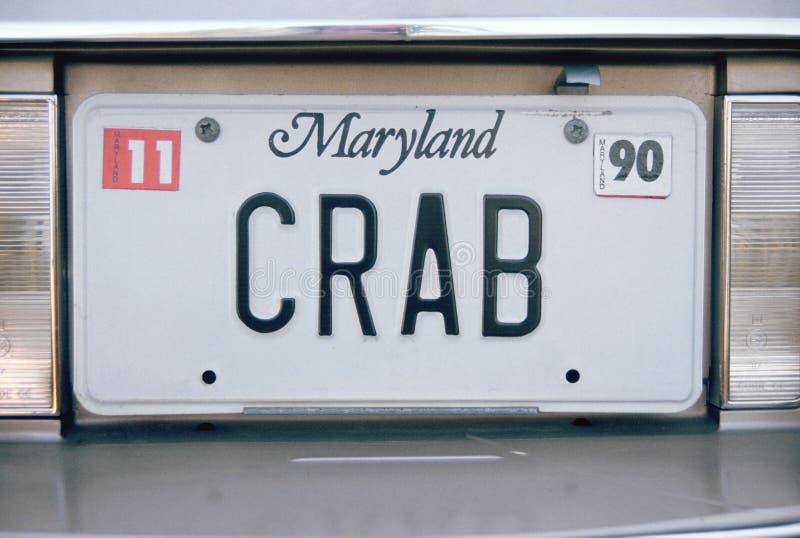 Targa di immatricolazione di vanità - Maryland fotografie stock