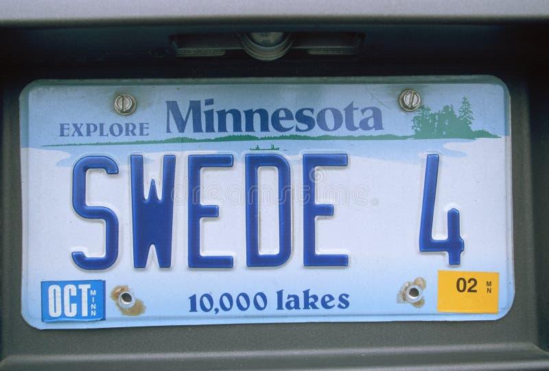 Targa di immatricolazione di vanità - Minnesota immagine stock libera da diritti