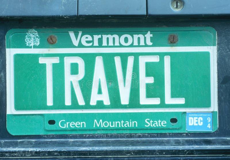 Targa di immatricolazione di vanità - Vermont immagine stock libera da diritti