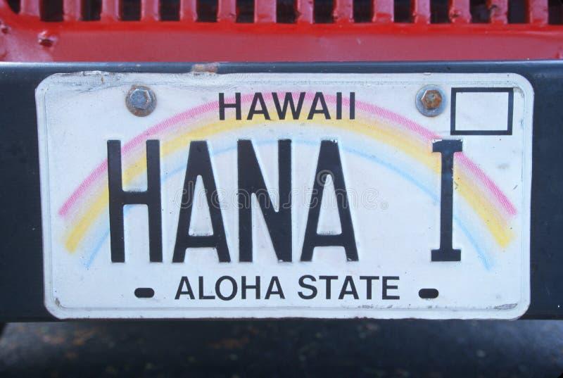 Targa di immatricolazione in Hawai fotografia stock libera da diritti
