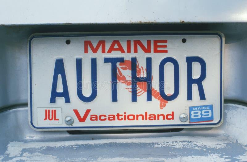 Targa di immatricolazione in Maine immagini stock