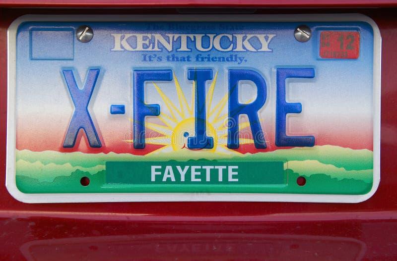 Targa di immatricolazione nel Kentucky fotografie stock