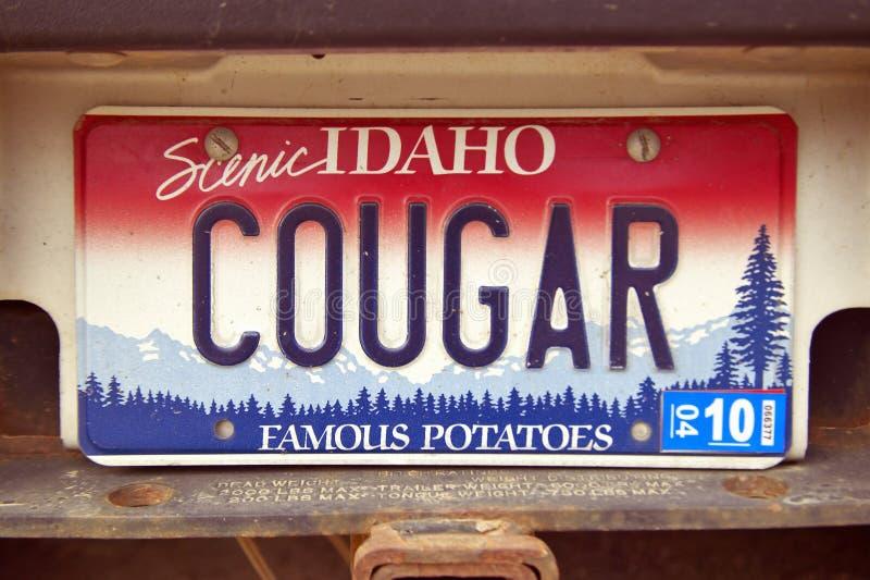 Targa di immatricolazione nell'Idaho fotografia stock
