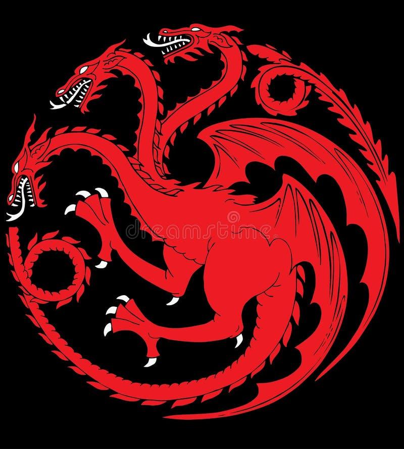 Targaryenhuis vector illustratie