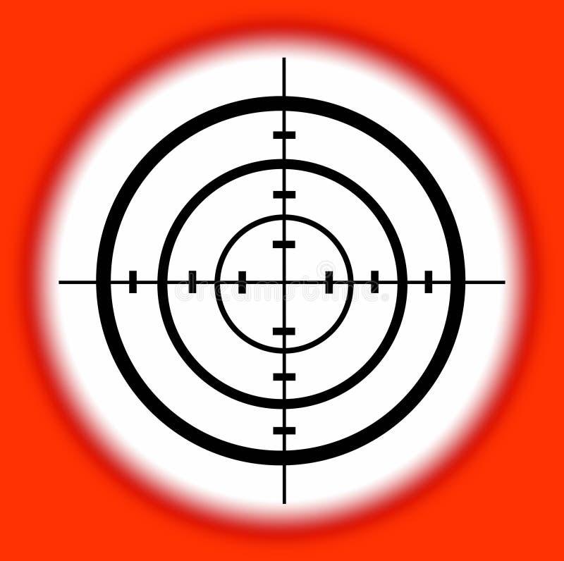Target royalty free illustration